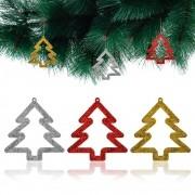 Kit 3 Enfeites De Natal Decorativo Pinheiro Pendente Árvore