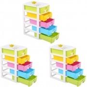 Kit 3 Organizador Mini Gaveteiro Multiuso Porta Treco