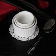 Kit 3 Ramekins Ramequim Gourmet 190ml, 100ml e 40ml Cerâmica