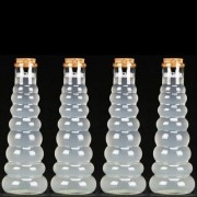 Kit 4 Frascos Garrafa Decorativa De Vidro Tampa Rolha 350ml