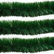 Kit 5 Festão Verde de 2 Metros 5 cm Enfeite Arvore Natal