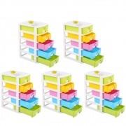 Kit 5 Organizador Mini Gaveteiro Multiuso Porta Treco