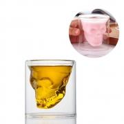 Kit 6 Copos Caveira De Vidro Shot Aperitivo Whisky 75ml