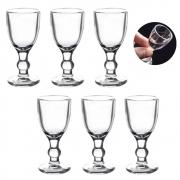 Kit 6 Mini Taças De Vidro Bebidas Festas Lembrancinhas