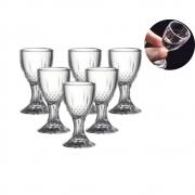 Kit 6 Mini Taças De Vidro Para Bebidas Festas Lembrancinhas