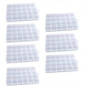 Kit 7 Caixa Organizadora Multiuso Com 24 Divisórias