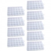 Kit 9 Caixa Organizadora Multiuso Com 24 Divisórias