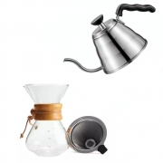 Kit Barista Profissional Chaleira E Passador Para Café
