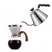 Kit Barista Profissional Passador Para Café E Chaleira