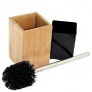 Kit Limpeza Para Banheiro De Bambu Escova Sanitária