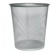 Lixeira Para Escritório Cesto De Lixo Em Aço Telado Prata
