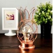Luminária De Led Abacaxi Aramado Cobre Rose Gold