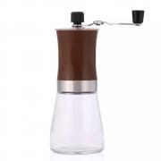 Moedor De Café Para Grãos Manual De Vidro E Aço Inox