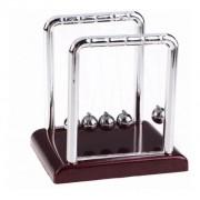 Pêndulo De Newton Pequeno Escritório Jogo De Bolas 9,3x9Cm
