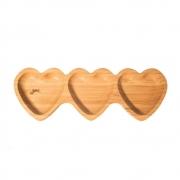 Petisqueira Para Servir De Bambu Tripla Coração