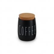 Porta Condimento Hermético Preto Coffee Tampa Cortiça 850ml