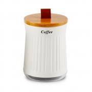 Porta Condimento Tampa Bambu Com Alça De Couro Coffee 1350ml