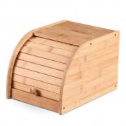 Porta Pão Multiuso De Bambu Com Tampa Para Cozinha