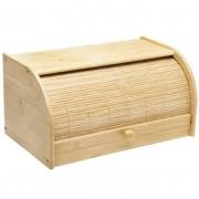 Porta Pão Multiuso De Bambu Retrátil Com Tampa Para Cozinha