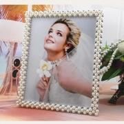 Porta Retrato Casamento Pérola com Strass 20X25cm