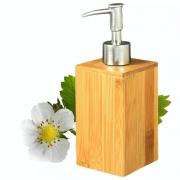 Porta Sabonete Liquido Dispenser Em Bambu Banheiro