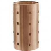 Porta Talheres Escorredor Bronze Inox Redondo Vazado Cozinha