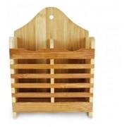 Porta Talheres Escorredor De Bambu Moderno Sustentável