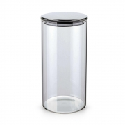 Pote Hermético De Vidro Com Tampa Inox Prata 1400Ml