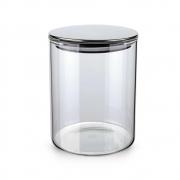 Pote Hermético De Vidro Com Tampa Inox Prata 700Ml