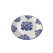 Prato Em Cerâmica Decorativo Para Lanche 18Cm