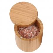 Saleiro E Pimenteiro Porta Condimentos Para Cozinha De Bambu
