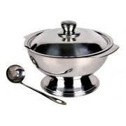 Sopeira Para Sopa Cozinha 1,5L Em Aço Inox Com Concha
