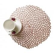 Sousplat Luxo Rose Gold Para Decoração Mesa Prato