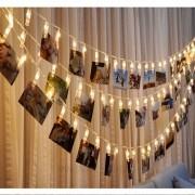 Varal De Led 10 Prendedores Pregador Luminoso Foto Decoração