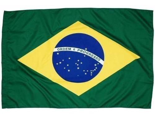 Bandeira Do Brasil 90 X 60 Torcida Com Encaixe P/ Bastão