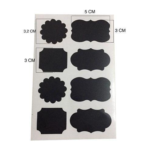 Cartela Com 48 Etiqueta Adesivas Quadro Negro Lousa Tempero