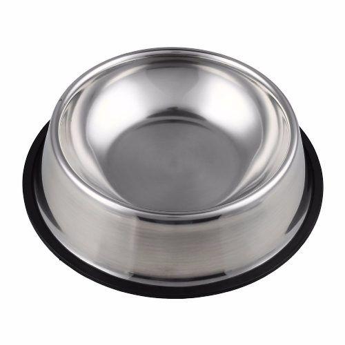 Comedouro Bebedouro Pote Inox Para Ração Cães E Gato 300ml