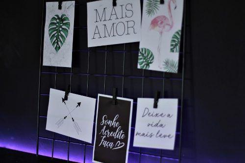 Memory Board Aramado Preto Mural De Fotos Preto 38x38 Cm