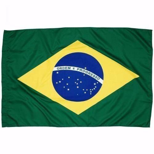 Bandeira Do Brasil Torcida Copa 1,40 X 0,90 Pronta Entrega