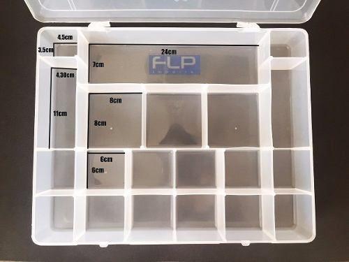 Caixa Estojo Organizador Multiuso 20 Divisórias Coloridos