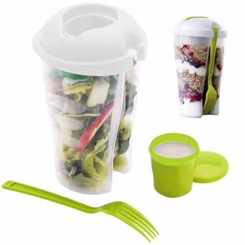 Squeeze Coqueteleira Copo P/ Salada E Frutas Fitness 700ml