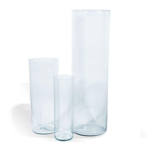 Kit 3 Vasos Tubo De Vidro Para Decoração De Mesas Festas