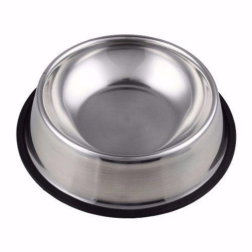 Comedouro Bebedouro Pote Inox Para Ração Cães E Gato 500ml