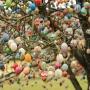 Enfeite Decorativo De Páscoa 2 Cestas 24 Ovos De Plástico