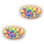 Enfeite Decorativo De Páscoa 2 Cestas 48 Ovos Com Glitter