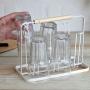 Escorredor De Copos Em Aço Carbono Cozinha Branco