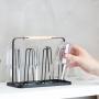 Escorredor De Copos Em Aço Carbono Cozinha Preto