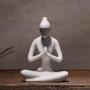 Estatua De Yoga Enfeite Decoração De Porcelana Branco