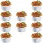 Kit 10 Ramekins Ramequim Gourmet 100ml Cerâmica Canelado