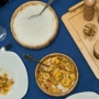 Kit 2 Bowl Em Bambu Tigela Redonda Canelada Cozinha